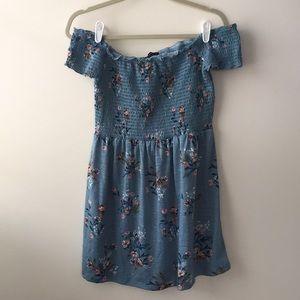 Cotton On Blue Floral On & Off Shoulder Sundress